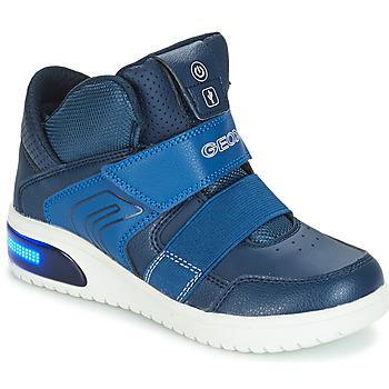 Čevlji  Dečki Visoke superge Geox J XLED BOY Modra