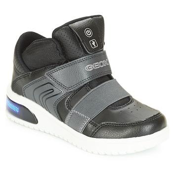 Čevlji  Dečki Visoke superge Geox J XLED BOY Črna