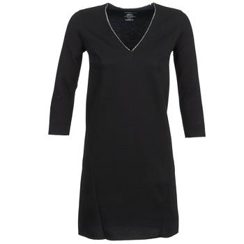 Oblačila Ženske Kratke obleke Majestic BRUNEHILDE Črna