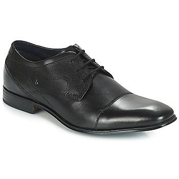 Čevlji  Moški Čevlji Derby Bugatti ROMEI Črna