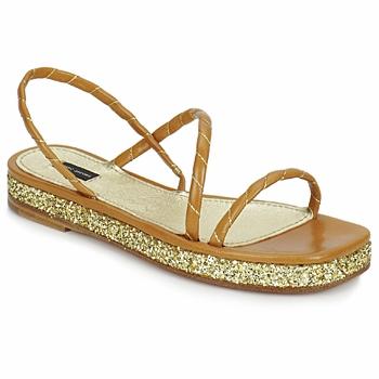 Čevlji  Ženske Sandali & Odprti čevlji Marc Jacobs MJ16405 Kostanjeva / Zlata