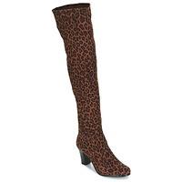 Čevlji  Ženske Mestni škornji    André PRISCA 3 Béžová