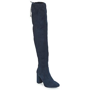 Čevlji  Ženske Visoki škornji André VELOURS Modra