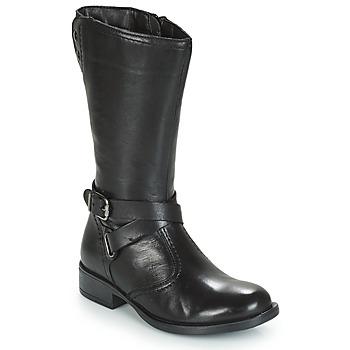Čevlji  Deklice Mestni škornji    André HIVER Črna