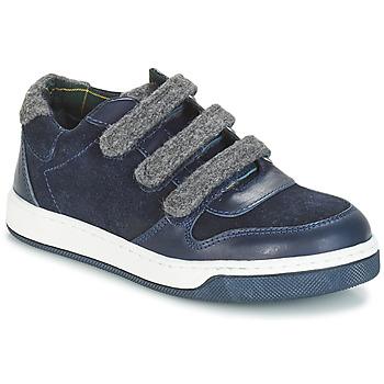 Čevlji  Dečki Čevlji Derby André CARREAU Modra