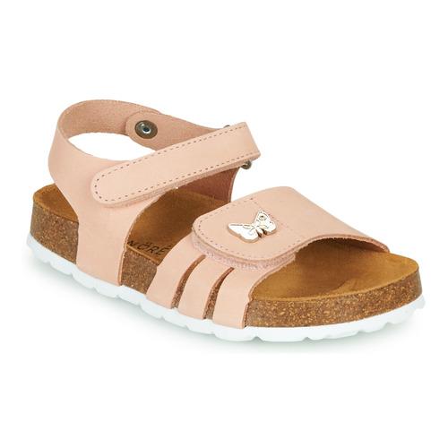 Čevlji  Deklice Sandali & Odprti čevlji André PAPILLON Rožnata