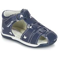 Čevlji  Dečki Sandali & Odprti čevlji André ORIGAMI Modra