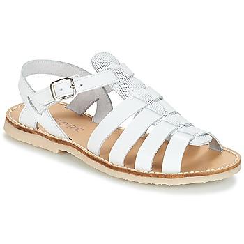Čevlji  Deklice Sandali & Odprti čevlji André CANDIE Bela