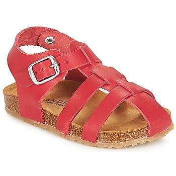 Čevlji  Dečki Sandali & Odprti čevlji André AVIRON Rdeča
