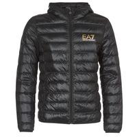 Oblačila Moški Puhovke Emporio Armani EA7 TRAIN CORE ID M DOWN LIGHT Črna / Pozlačena