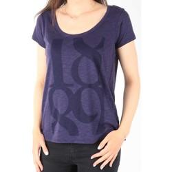 Oblačila Ženske Majice s kratkimi rokavi Lee T-Shirt  Scoop Mystic Plum 40KFL87 blue