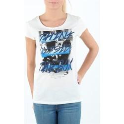 Oblačila Ženske Majice s kratkimi rokavi Lee T-shirt Damski SLIM T CLOUD DANCER L41MEVHA white