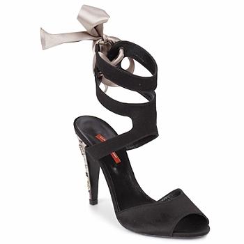 Čevlji  Ženske Sandali & Odprti čevlji Charles Jourdan MADNESS Črna / Peščena