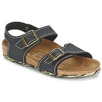 Čevlji  Deklice Sandali & Odprti čevlji Birki's NEW YORK Neoprene / Črna