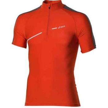Oblačila Ženske Majice s kratkimi rokavi Asics 1/2 ZIP TOP FW12 421016-0540 orange