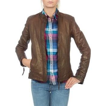 Oblačila Ženske Jakne & Blazerji Wrangler skórzana  WR4030ZC81 brown
