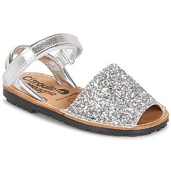 Čevlji  Deklice Sandali & Odprti čevlji Citrouille et Compagnie SQUOUBEL Srebrna