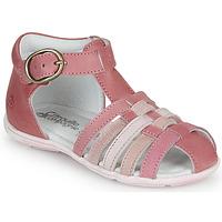 Čevlji  Deklice Sandali & Odprti čevlji Citrouille et Compagnie RINE Rožnata / Večbarvna