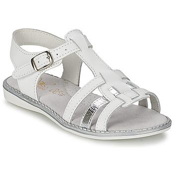 Čevlji  Deklice Sandali & Odprti čevlji Citrouille et Compagnie ROLUI Bela