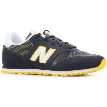 Čevlji  Ženske Nizke superge New Balance KD373NRY black, white, yellow