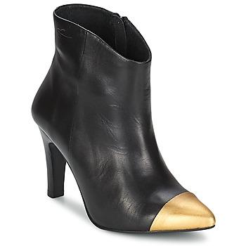 Čevlji  Ženske Gležnjarji Pastelle ARIEL Črno-zlata