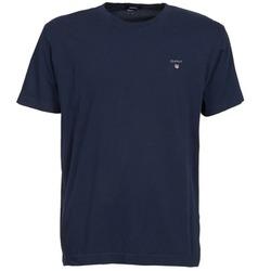 Oblačila Moški Majice s kratkimi rokavi Gant THE ORIGINAL SOLID T-SHIRT Modra
