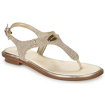 Čevlji  Ženske Sandali & Odprti čevlji MICHAEL Michael Kors MK PLATE Zlata