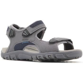 Čevlji  Moški Sandali & Odprti čevlji Geox Strada WF Siva