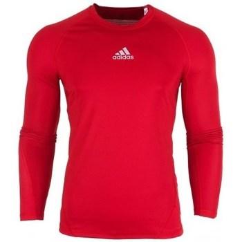 Oblačila Moški Majice z dolgimi rokavi adidas Originals Alphaskin LS Rdeča