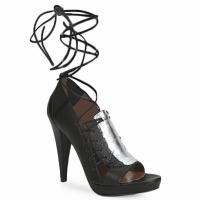 Čevlji  Ženske Sandali & Odprti čevlji Sigerson Morrison STRUZZO Črna / Srebrna