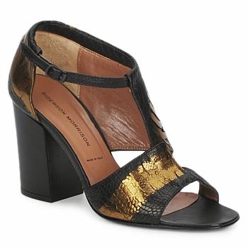 Čevlji  Ženske Sandali & Odprti čevlji Sigerson Morrison STRUZZO Črna / Bronze
