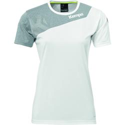 Oblačila Ženske Majice s kratkimi rokavi Kempa Maillot femme  Core 2.0 blanc/gris
