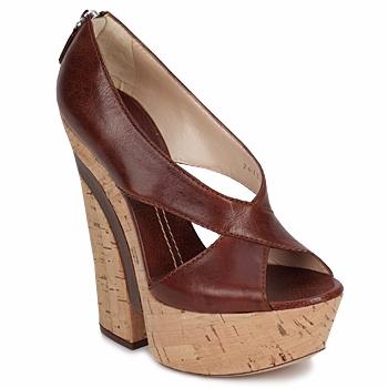 Čevlji  Ženske Sandali & Odprti čevlji Casadei ELEANORE Kostanjeva