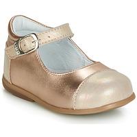 Čevlji  Deklice Balerinke GBB BELISTO Rožnata / Zlata