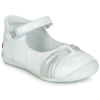 Čevlji  Deklice Balerinke GBB MALLA Bela