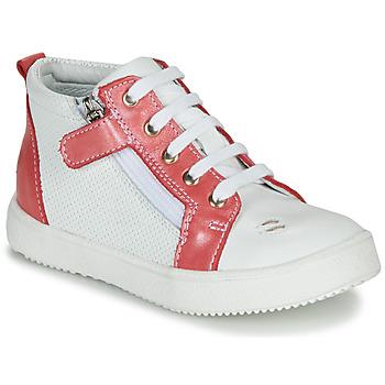 Čevlji  Deklice Visoke superge GBB MIMOSA Bela / Rožnata