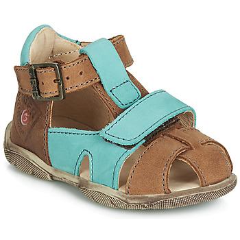 Čevlji  Dečki Sandali & Odprti čevlji GBB SEROLO NOTTE / Pastelno-turkizna / Dpf / Filou