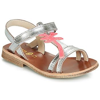 Čevlji  Deklice Sandali & Odprti čevlji GBB SAPELA Srebrna / Rožnata