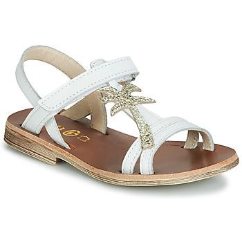 Čevlji  Deklice Sandali & Odprti čevlji GBB SAPELA Bela / Pozlačena