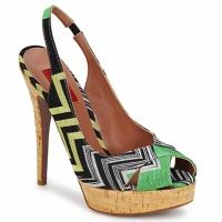 Čevlji  Ženske Sandali & Odprti čevlji Missoni RM71 Zelena