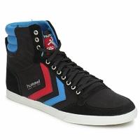 Čevlji  Moški Visoke superge Hummel TEN STAR HIGH CANVAS Črna / Modra / Rdeča