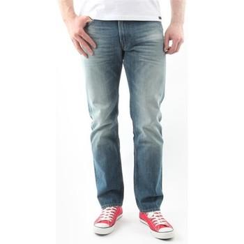 Oblačila Moški Jeans straight Lee Blake Worn Green L730DAUJ blue
