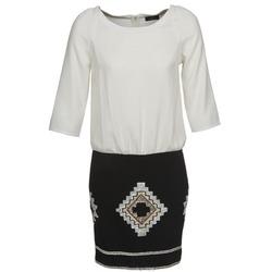 Oblačila Ženske Kratke obleke One Step RAMBOUTAN Bela / Črna