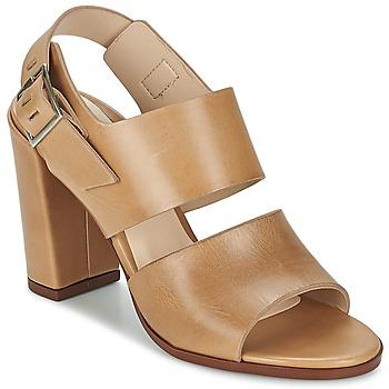 Čevlji  Ženske Sandali & Odprti čevlji Dune London CUPPED BLOCK HEEL SANDAL Bež