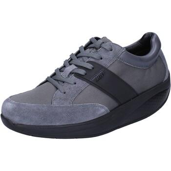 Čevlji  Ženske Nizke superge Mbt sneakers grigio tessuto camoscio performance BT41 Grigio
