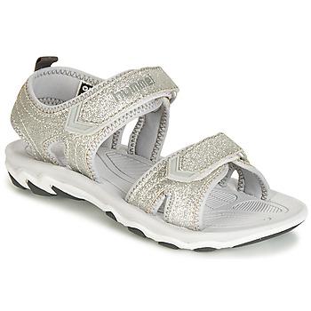 Čevlji  Deklice Sandali & Odprti čevlji Hummel SANDAL GLITTER JR Srebrna