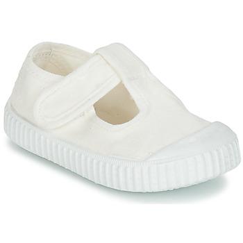 Čevlji  Otroci Balerinke Victoria SANDALIA LONA TINTADA Bela