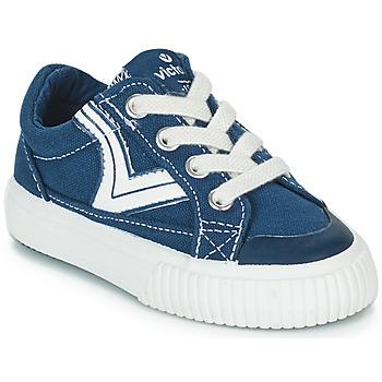Čevlji  Otroci Nizke superge Victoria TRIBU LONA RETRO Modra
