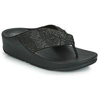 Čevlji  Ženske Japonke FitFlop TWISS CRYSTAL Črna