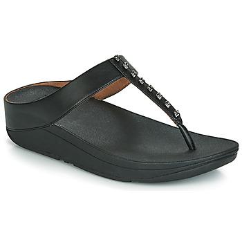Čevlji  Ženske Japonke FitFlop FINO TREASURE Črna